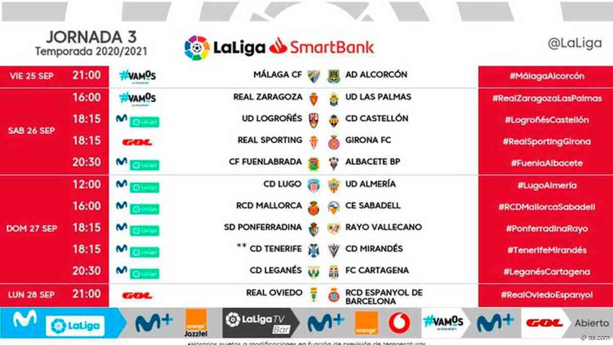 Horarios de Segunda en la J3: el Málaga-Alcorcón, en viernes, y el Oviedo-Espanyol, en lunes - AS