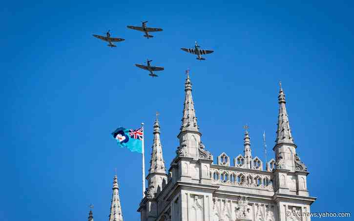 Determined few pay tribute as soul-stirring flypast marks 80th anniversary of Battle of Britain