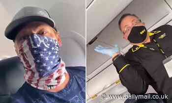 Spirit Airlines flight attendant and passenger clash over neck gaiter