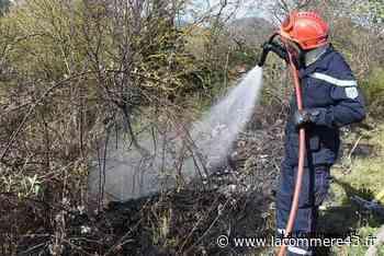 Saint-Maurice-de-Lignon : 2000 m2 de végétation détruits par le feu - La Commère 43
