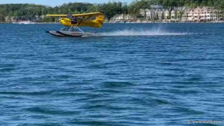Over 20 pilots fly into Lake James for the 18th Annual Seaplane Splash-In
