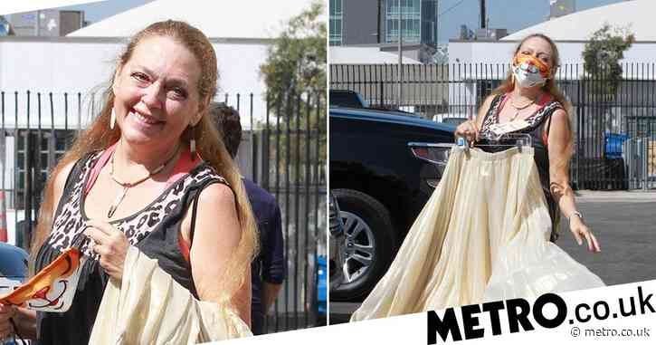 Tiger King's Carole Baskin gives fans sneak glimpse at Dancing With The Stars skirt as she heads to rehearsals