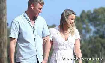 Bachelor In Paradise couple Alisha Aitken-Radburn and Glenn Smith enjoy a romantic date