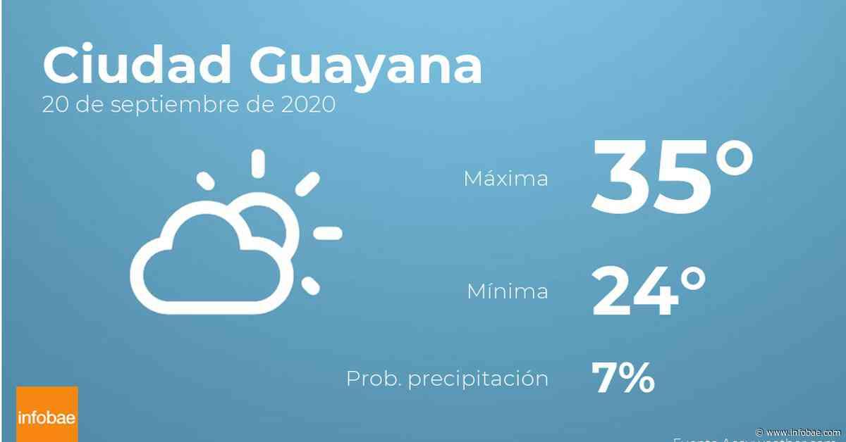 Previsión meteorológica: El tiempo hoy en Ciudad Guayana, 20 de septiembre - Infobae.com