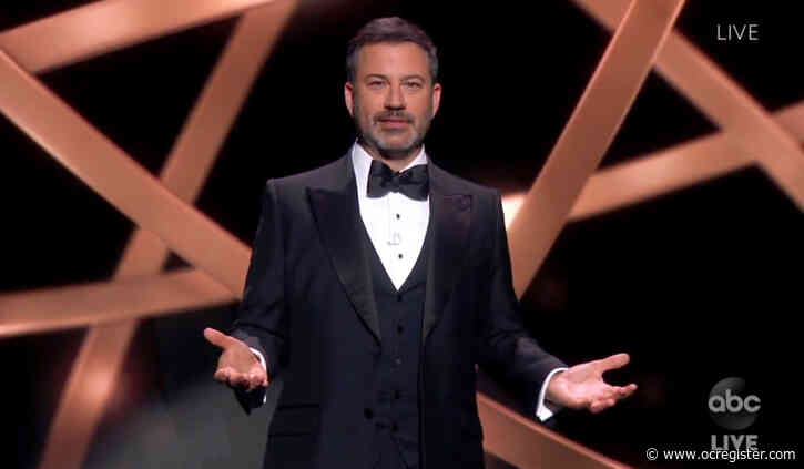 Emmys 2020: Jimmy Kimmel delivers monologue to cardboard cutouts, and Jason Bateman