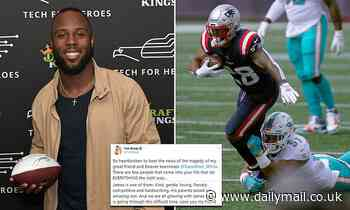 Patriots star James White's police captain dad is killed and his mom seriously injured in car crash