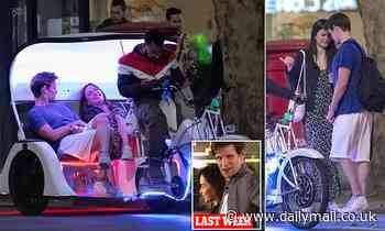 Matt Smith puts on a very cosy display with mystery brunette as they enjoy a rickshaw ride