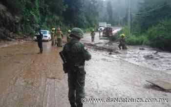 Deslaves ocasionan cierre de la Tenancingo- Toluca - El Sol de Toluca