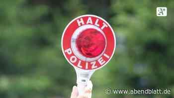 Kriminalität: Betrunkener Autofahrer flüchtet vor Kontrolle