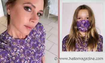 Harper Beckham is too adorable in this mini-me version of mum Victoria's dress