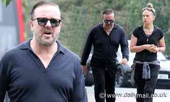 Ricky Gervais keeps it casual as he steps out with longterm partner JaneFallon