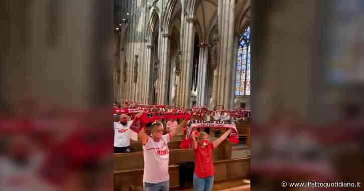 Lo stadio è chiuso, la sciarpata dei tifosi del Colonia si trasferisce in chiesa: video