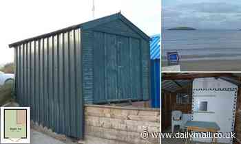 Beach hut measuring just 9ft by 11ft without electricity or water goes up for sale for £100,000