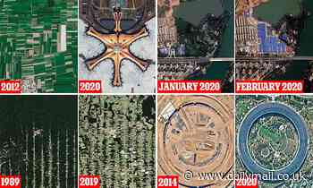 Startling satellite images show how human industry has changed the landscape