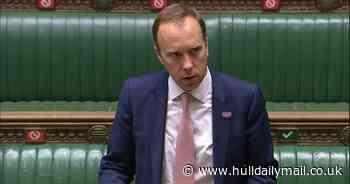 Live: Matt Hancock makes a statement to Parliament