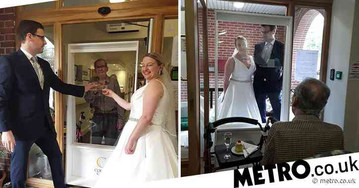 Bride drove 200 miles to show grandad her wedding dress after he couldn't attend