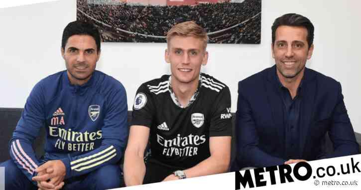Mikel Arteta and Edu react as Arsenal complete Alex Runarsson transfer