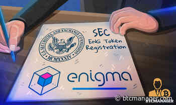 Privacy-Centric Enigma (ENG) Project Knocks SEC's Door for ENG Token Registration - BTCMANAGER