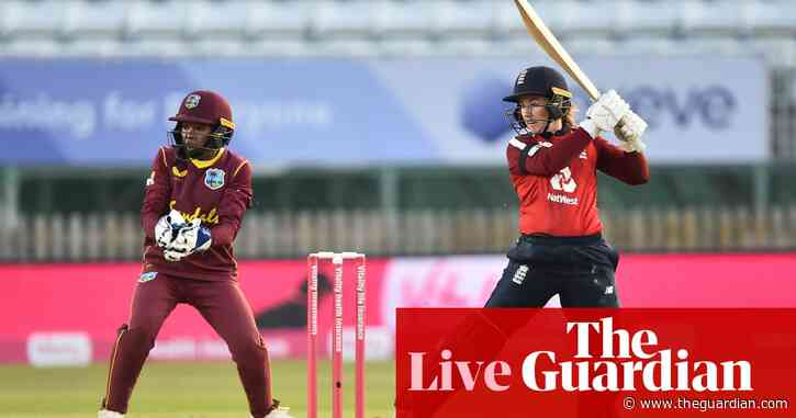 England set West Indies 164 to win first women's T20 international – live!
