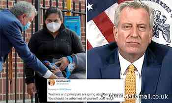 Bill de Blasio faces calls to resign as he hails 'return to school'