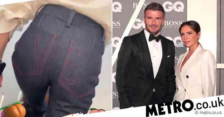 David Beckham drools over wife Victoria's 'peachy' bum