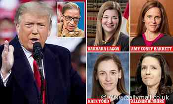 Trump says 'out of respect' he will wait until after RBG's funeral to nominate female replacement