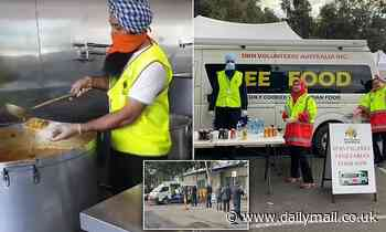 Sikh volunteer group hits 189 consecutive days of making curries to deliver to Melbourne families