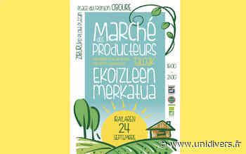 Marché des producteurs jeudi 24 septembre 2020 - unidivers.fr