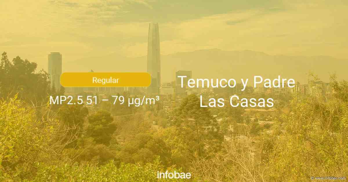 Calidad del aire en Temuco y Padre Las Casas de hoy 21 de septiembre de 2020 - Condición del aire ICAP - infobae