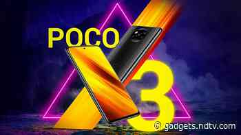 Poco X3 With Qualcomm Snapdragon 732G SoC, 6,000mAh Battery Launched in India: Price, Specifications - Gadgets 360