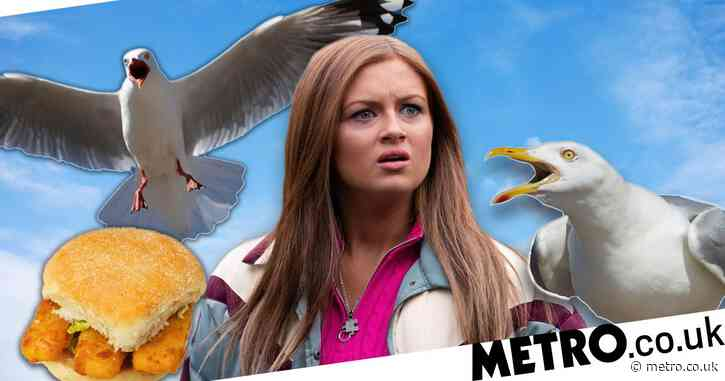 EastEnders star Maisie Smith bitten on the face by a seagull