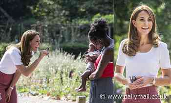 Kate Middleton meets with parents supported by peer support networks during the Covid-19 pandemic