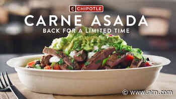 Chipotle Mexican Grill brings back carne asada, fastest-selling new protein in brand history
