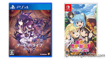 This Week's Japanese Game Releases: Date A Live: Ren Dystopia, KonoSuba: God's Blessing on this Wonderful World! Love for this Tempting Attire, more - Gematsu