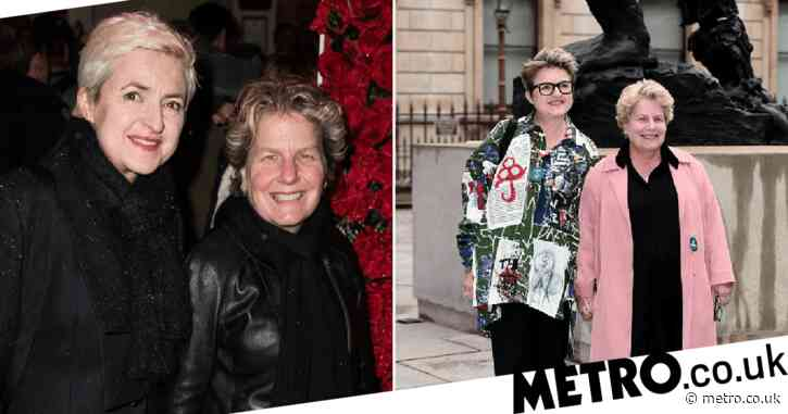 Who is Sandi Toksvig's wife and do they have children?
