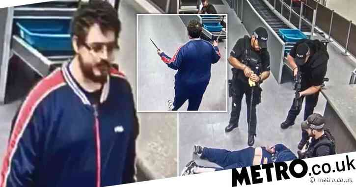 Schizophrenic who sparked chaos at Gatwick with two kitchen knives avoids jail