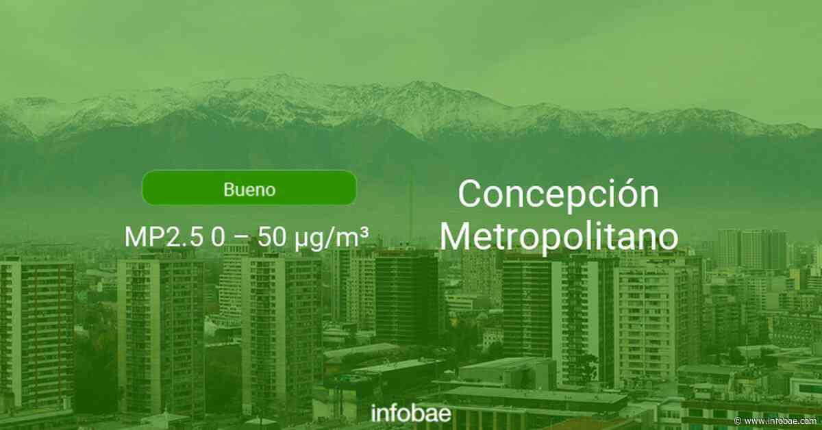 Calidad del aire en Concepción Metropolitano de hoy 22 de septiembre de 2020 - Condición del aire ICAP - infobae