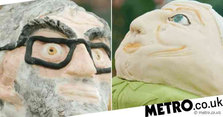 Great British Bake Off contestants make Sir David Attenborough and Louis Theroux out of cake and viewers can't cope