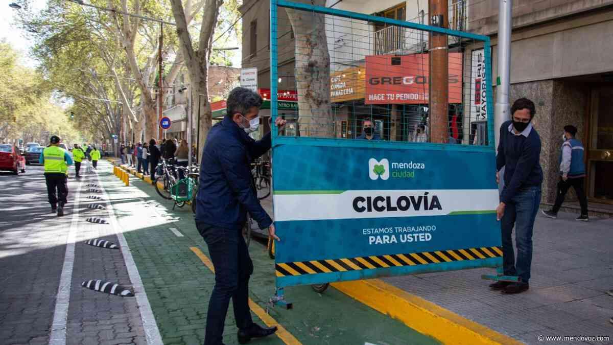Habilitaron el segundo tramo de la nueva ciclovía de Av. San Martín - Mendovoz