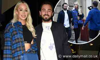 Olivia Attwood and her fiancé Bradley Dack enjoy romantic meal after filming her new reality show