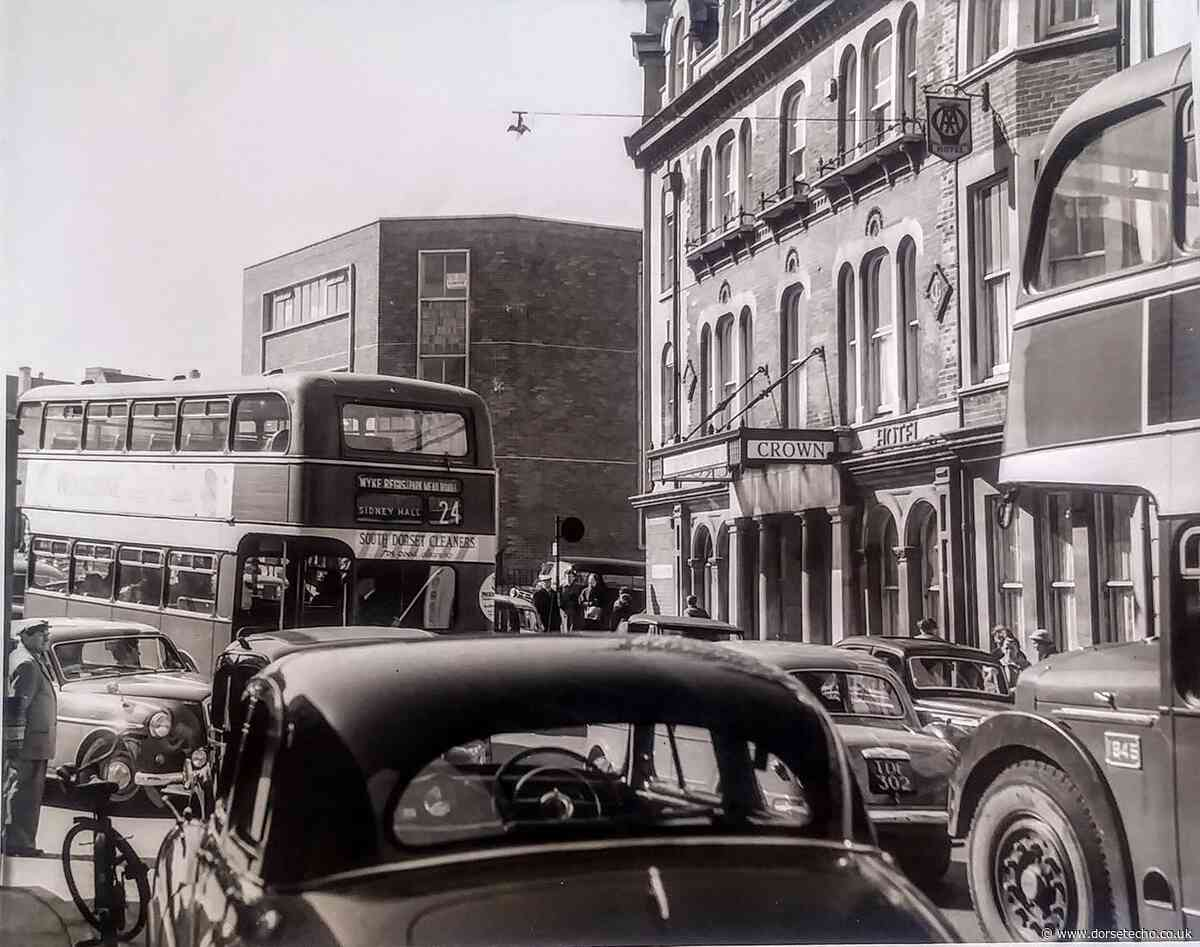 Harry Green photo shows busy traffic in St Thomas Street, Weymouth - Dorset Echo