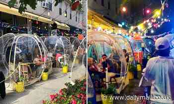 French bistro in NYC's Upper West Side sets up 'space bubbles' that are up to 10F warmer inside