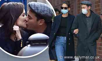 Katie Holmes, 41, packs on PDA with beau Emilio Vitolo Jr., 33, during romantic al fresco dinner