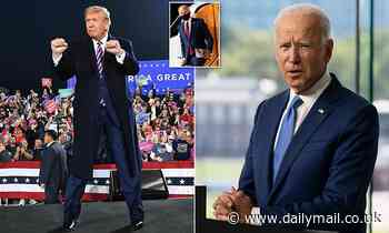 Trump mocks Biden for covering up his 'PLASTIC SURGERY' with a mask