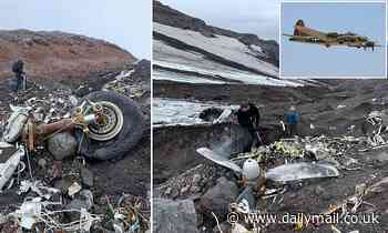 US WWII bomber emerges from glacier in Iceland melting due to climate change - 76 years after crash