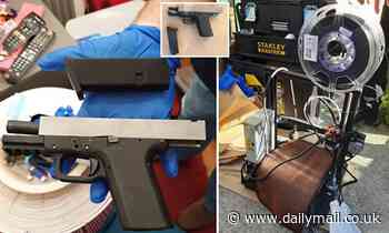 3D-printed semi-automatic handgun is seized as cops arrest man for importing firearm parts