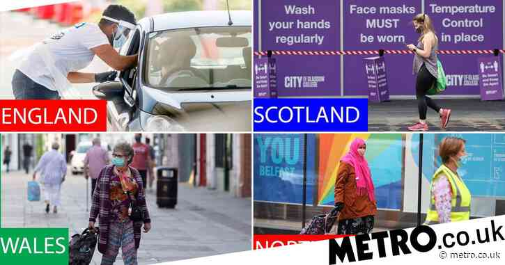 How the new lockdown rules differ in England, Scotland, Wales and Northern Ireland
