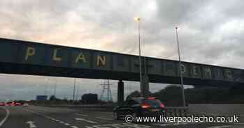Landmark M57 Pies graffiti defaced with coronavirus conspiracy slogan - Liverpool Echo