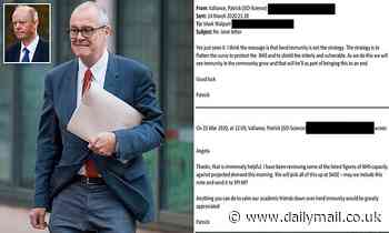 Sir Patrick Vallance and Professor Chris Whitty faced backlash over 'herd immunity', emails show
