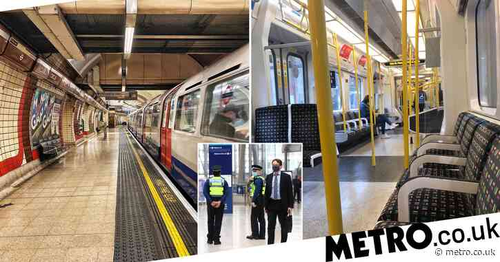 Pictures show empty Tube but commuters say 'it's packed' despite work from home push